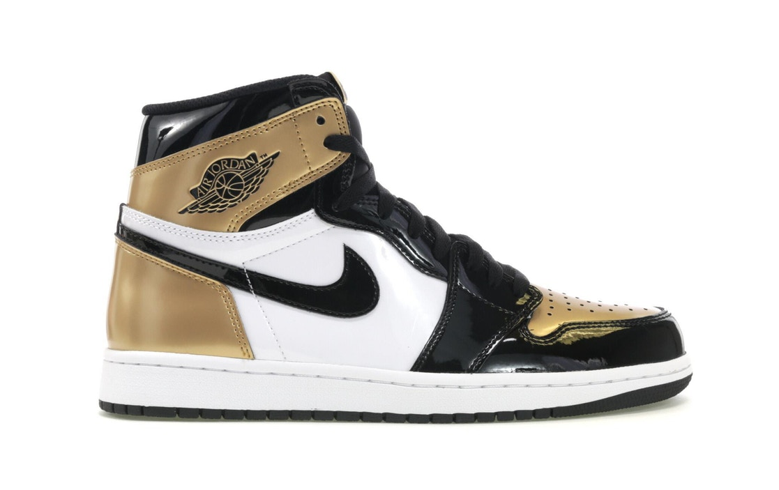 b9deb02f581c ... coupon for jordan 1 retro high patent gold toe d81ad 0b8a3